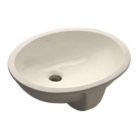 kohler caxton undermount bathroom sink in biscuit k 2209