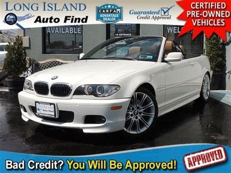 Buy Used 05 Bmw 330ci Convertible White Leather Hid Wind