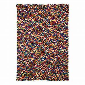 Home 24 Teppich : teppich bunt wolle filz kugeln in 3 gr en wohnzimmer vorleger l ufer flor neu ~ Markanthonyermac.com Haus und Dekorationen