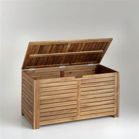 coffre de rangement en acacia l90 cm bois clair naturel la redoute shopping prix la redoute