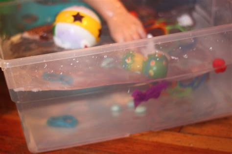 water play experiment does it float or sink on as we grow
