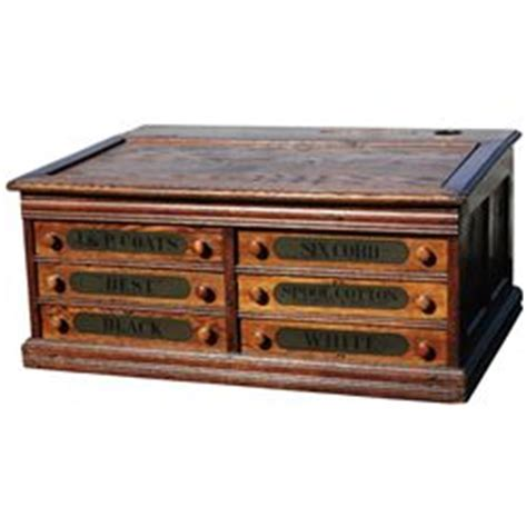 antique oak spool cabinet