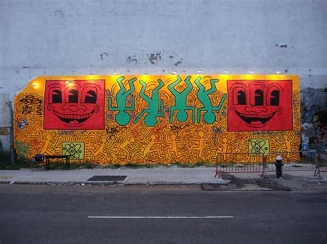 keith haring memorial mural on east houston bowery