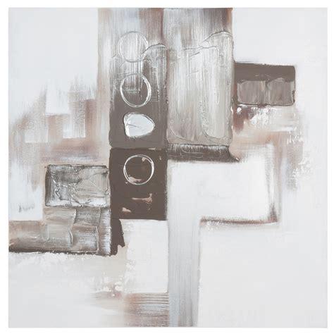 toile peinte 224 la argent 233 e 80 x 80 cm modern maisons du monde