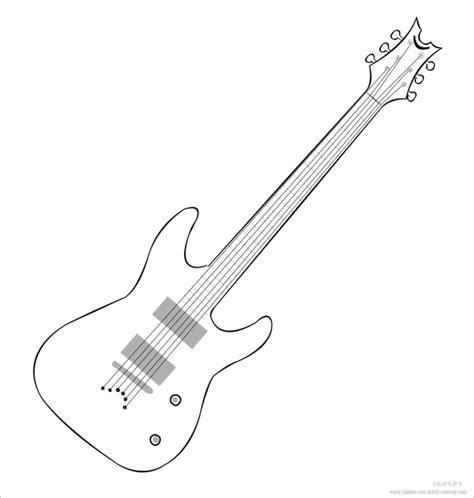 Electric Guitar Drawing Template Ialoveni Info