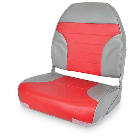 Red Fishing Boat Seats by Deluxe High Back 2 Tone Fishing Boat Seat 640169 Fold