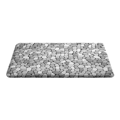 tapis de bain galets gris