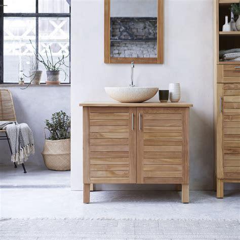 meubles salle de bain en teck soho meuble sous vasque