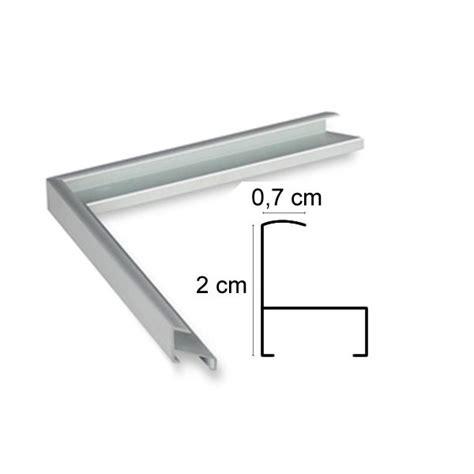cadre aluminium argent sur mesure avec plexiglas et dos