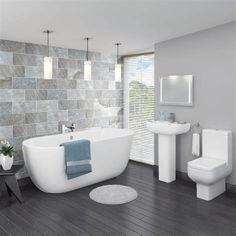 Pro 600 Modern Free Standing Bath Suite  Now At Victorian