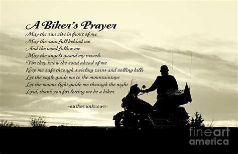 Biker's Prayer Photograph By Pam Holdsworth