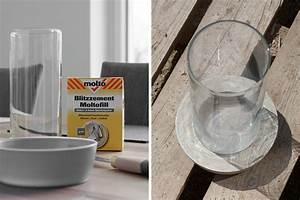 Kann Man Beton Auf Beton Gießen : diy windlicht aus beton und glas mxliving ~ Markanthonyermac.com Haus und Dekorationen