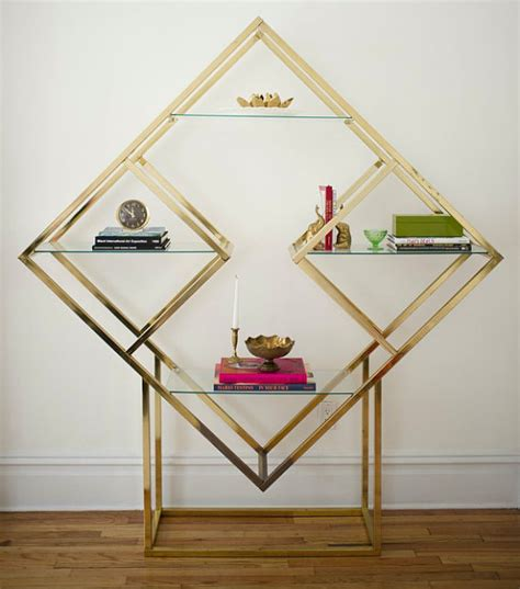 items similar to milo baughman style brass etagere shelving unit 80 s shape vintage on etsy