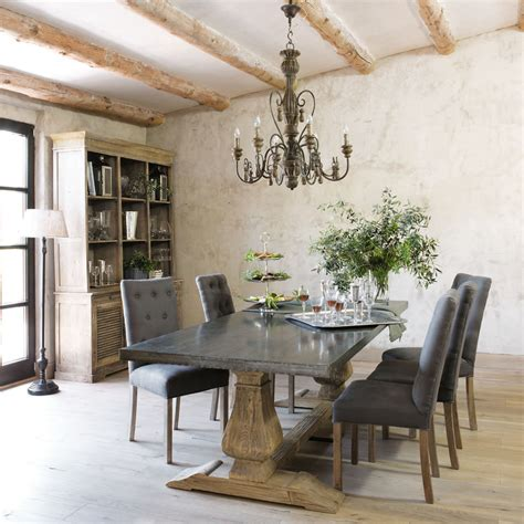 table 224 manger en m 233 tal et pin recycl 233 10 personnes l240 provence style salon style and