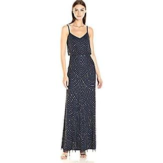 Adrianna Papell Beaded Boat Neck Cap Sleeve Gown by Adrianna Papell 174 Evening Dresses Sale Up To 30 Stylight