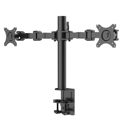 fleximounts desk mount stand computer dual monitor arm fits 10 in 27 in lcd screens support