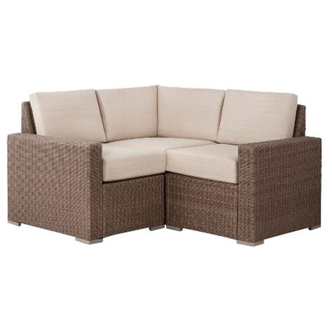 heatherstone 3 wicker patio sectional sea target