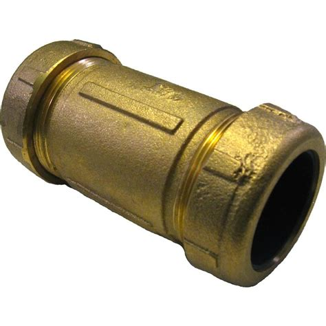 dresser couplings for pvc pipe 1 1 2 quot ips brass dresser coupling plumbersstock
