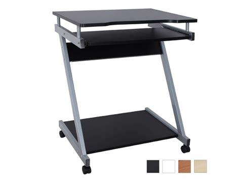 bureau table meuble informatique avec tablette clavier noir helloshop26 0512001 vente de