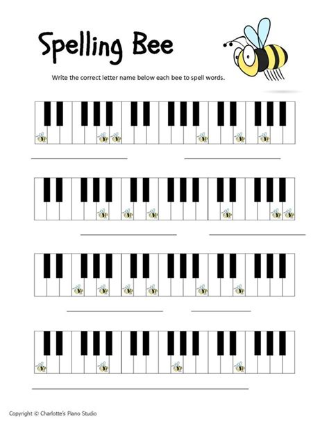 Piano Keyboard Notes Worksheets  Download Bass Clef Pdf