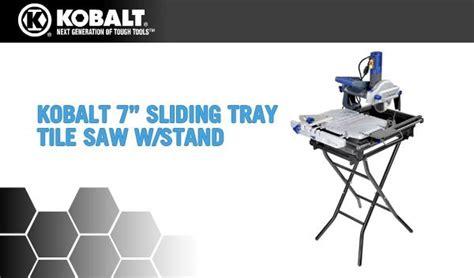kobalt tools tile saw 0325792 7 in sliding tray tile