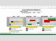 Kalender Pendidikan Tahun 20172018 Dilengkapi Hari