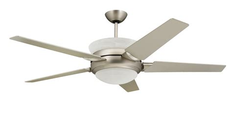 Outdoor Ceiling Fans With Uplights by Troposair 56 In Satin Steel Ceiling Fan With Up
