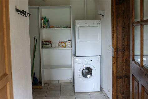 mettre seche linge sur machine a laver de conception de maison