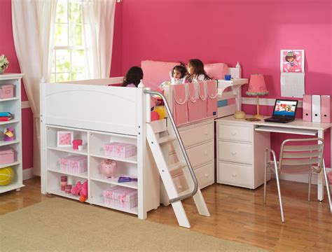 Low Loft Bed With Desk And Dresser by Maxtrix Low Loft Bed With Desk Dresser And Bookcase