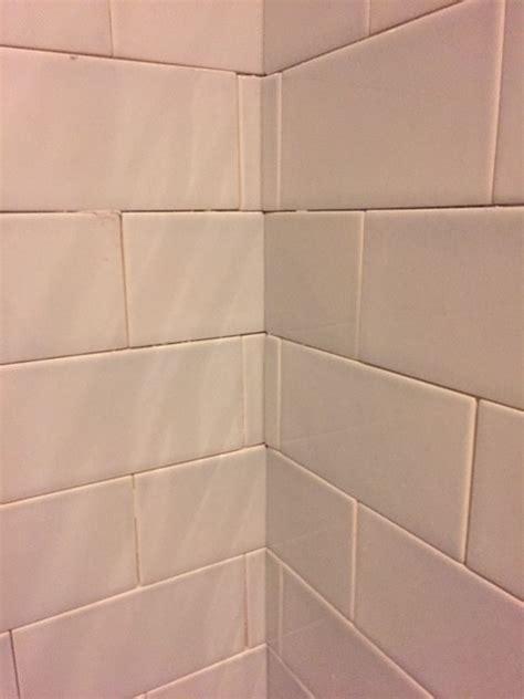 bathroom tile inside corner disaster