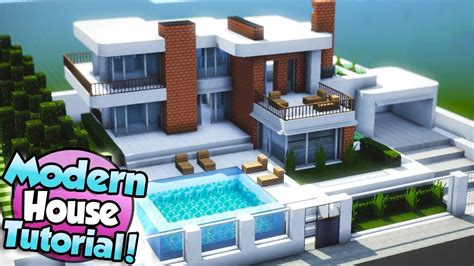 Minecraft How To Build A Large Modern House Tutorial (#15