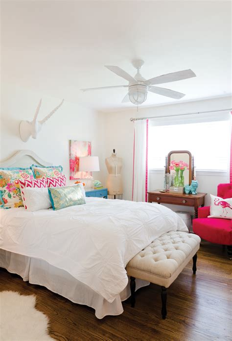 White Bedroom With Pops Of Color  Bed + Bath Pinterest