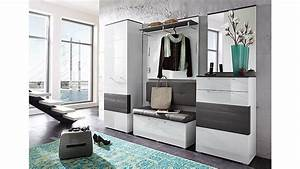 Garderoben Set Grau : garderobenset reno garderobe in wei hochglanz und grau ~ Markanthonyermac.com Haus und Dekorationen