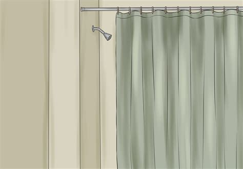 How To Install A Shower Curtain 15 Steps With Pictures Outdoor Gazebo Curtains Lowes Linen Shower Curtain Uk Blackout Nyc Skyline Bedroom Ideas With White Lining Eyelet The Range Mosquito Screen Door Pinup Can You Use On A Track