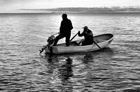 People On A Boat by Kaks Meest Paadis Two Men In A Boat People Portrait