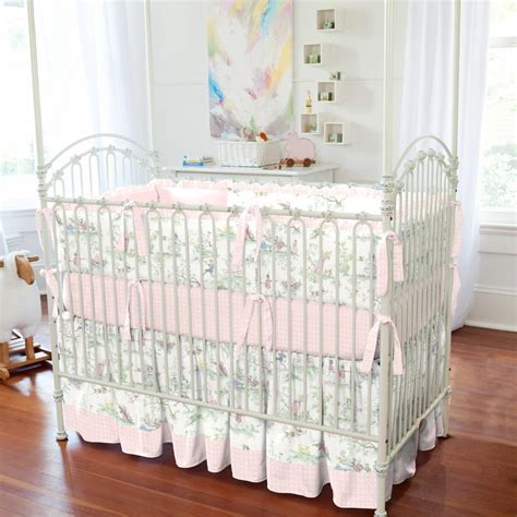 baby crib bedding pink the moon toile crib bedding carousel designs