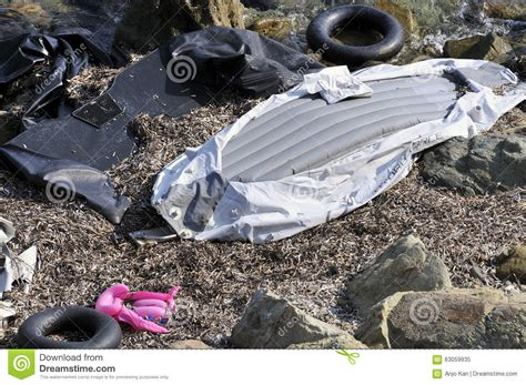Inflatable Boats Turkey by Refugees Arriving In Greece By Inflatable Boats From