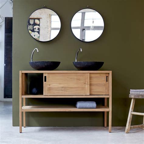 meuble sous vasque teck brut vente meubles sous vasque arty duo tikamoon