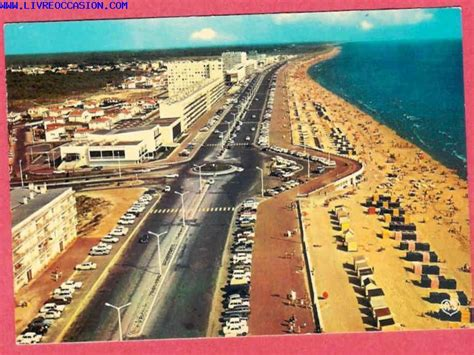 jean de monts vue d ensemble de l esplanade de la mer carte postale vend 233 e