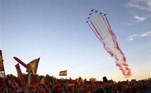 Celebrating The National Day Of Spain