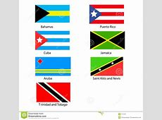 Caribbean Flags stock illustration Illustration of rico