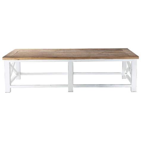 table basse en bois recycl 233 l 160 cm sologne maisons du monde