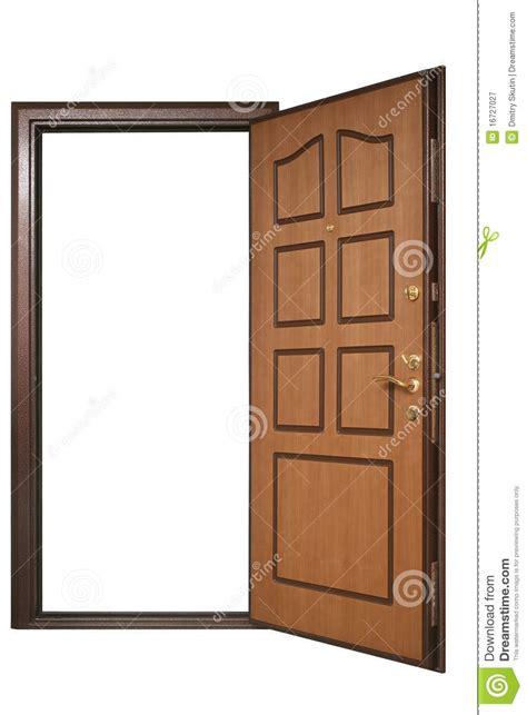 porte ouverte avec la garniture en bois photographie stock libre de droits image 16727027