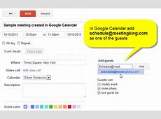 Create a meeting directly from Outlook, iCal, Google