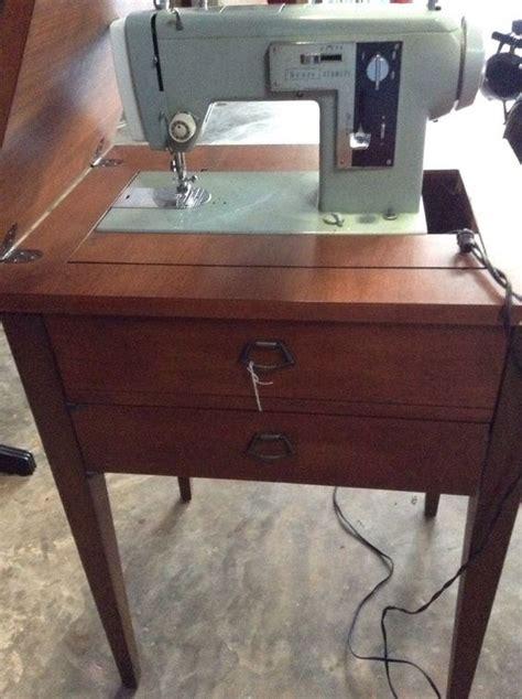 antique vintage sears kenmore sewing machine cabinet and accessories vintage sewing machined