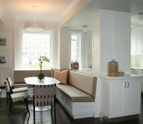 built in dining banquette contemporary dining room curated