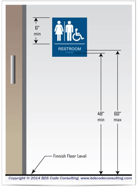 ada requirements for bathrooms service toilet how to measure raised letter and braille