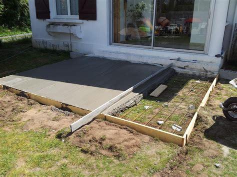 comment couler une dalle de beton pour terrasse 1 beton dalle beton pour terrasse