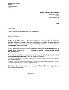 lettre de motivation maison de retraite lettre de motivation 2017