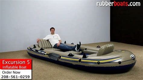 Opblaasboot Test by Intex Excursion 5 Inflatable Boat Video Review By Rubber